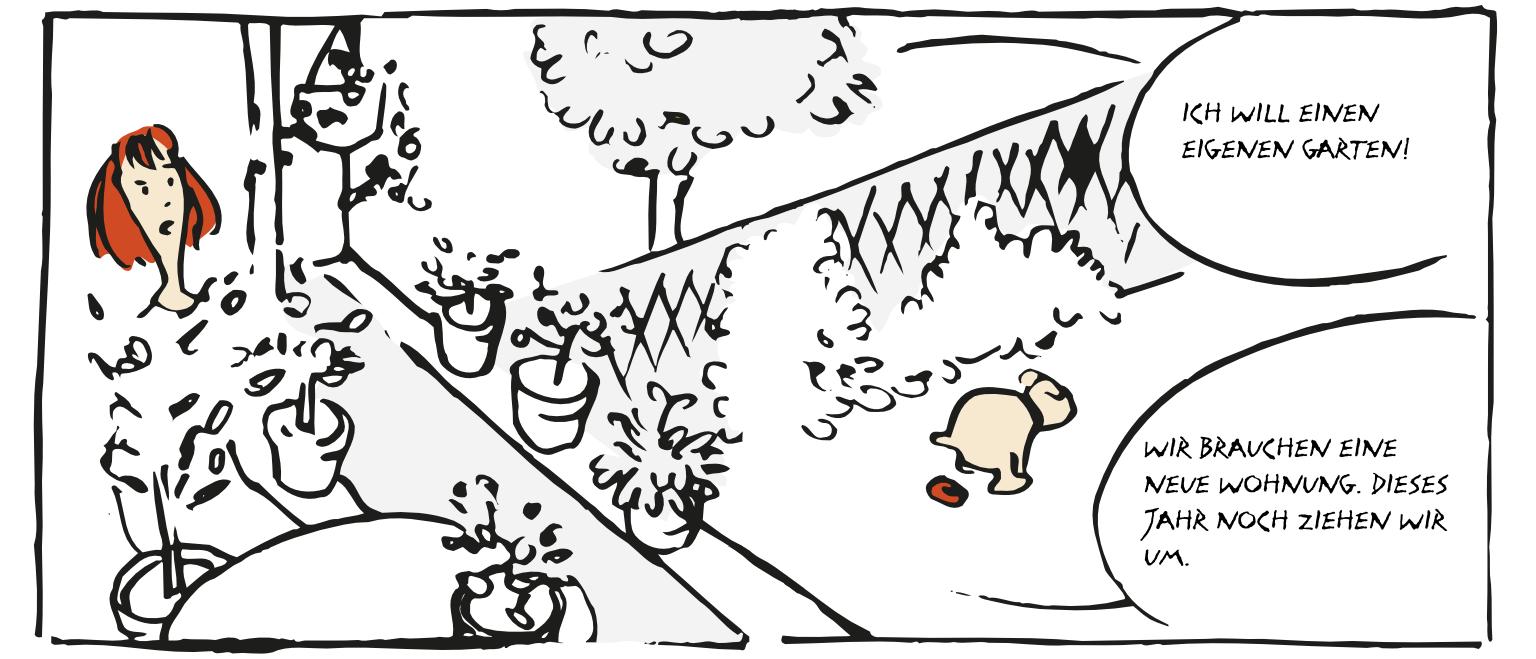 Supersuse Mops im Garten